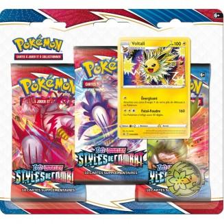 Pokemon – EB05 Styles de Combat Pack 3 Boosters - Voltali