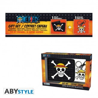 "ONE PIECE - Pck Wallet + Keyring ""Skull Luffy"""