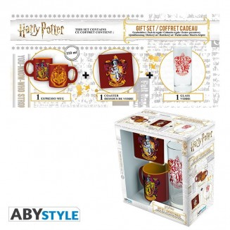 "HARRY POTTER - Pck Verre 29cl + Coaster + Mini Mug ""Gryffondor"""