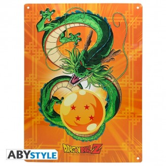 "DRAGON BALL - Plaque métal ""Shenron"" (28x38) Broch"