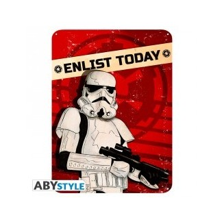 "STAR WARS - Plaque métal ""Enlist today"" (28x38)"