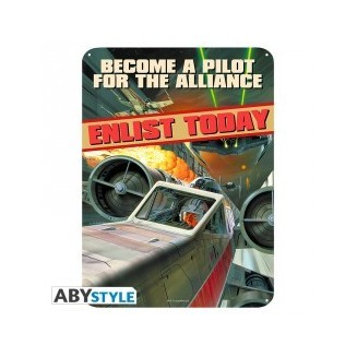 "STAR WARS - Plaque métal ""Become a pilot"" (28x38)"