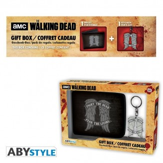 "THE WALKING DEAD - Pck Wallet + Keyring ""Daryl wings"""