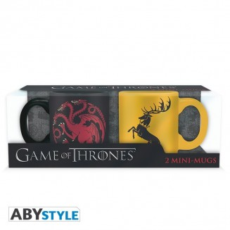 GAME OF THRONES - Set 2 mugs à espresso - 110 ml